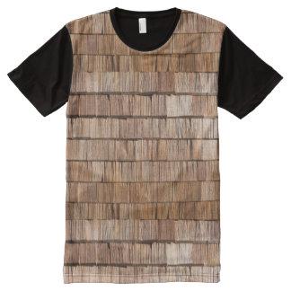 Wood Shingle All-Over Print T-Shirt