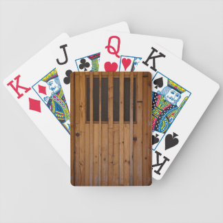 Wood Slats Beach Door Costa Brava Spain Poker Deck