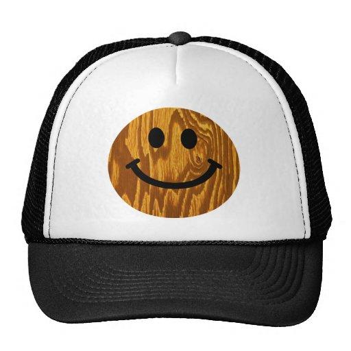 Wood Smiley Hats