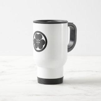 Wood sorrel in circle travel mug