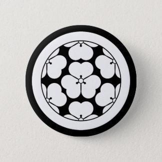 Wood sorrel in six equal parts wood sorrel 6 cm round badge