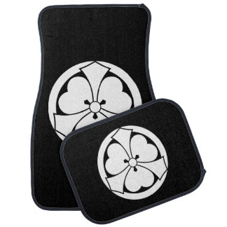 Wood sorrel with jut-out-swords in circle car mat