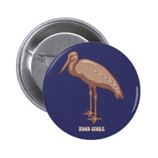 Wood Stork Pinback Buttons