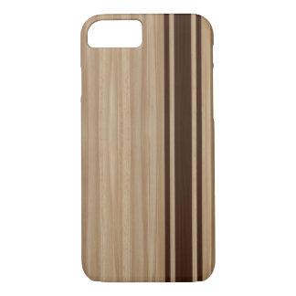 Wood Stripe iPhone 7 case - Surfboard Style