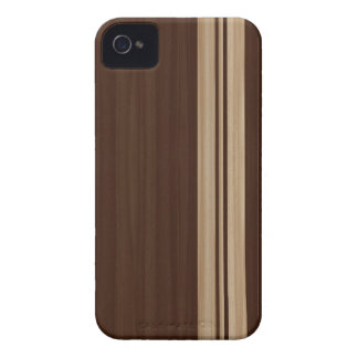 Wood Stripes iPhone 4 Case - Surfboard Style