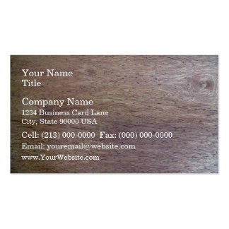 Wood Surfaced Texture Business Card