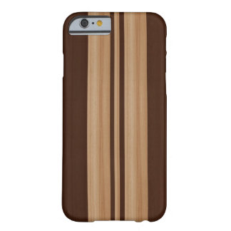 Wood Surfboard iPhone 6 case - Faux Wood Stripes Barely There iPhone 6 Case