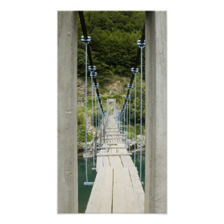 Wood suspension bridge poster