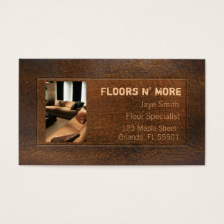 Wood Textile Business Card