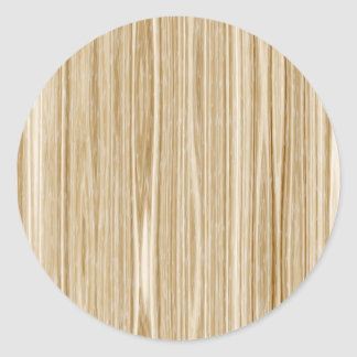 wood texture classic round sticker