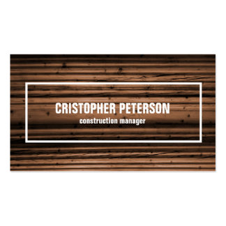 Wood Texture Construction Manager Pack Of Standard Business Cards