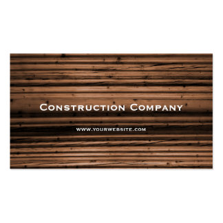 Wood Texture Construction Pack Of Standard Business Cards