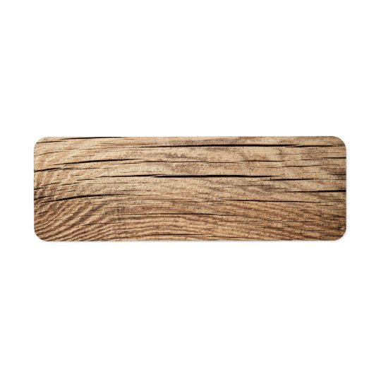Wood Texture For Background With Natural Patterns Return Address Label