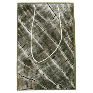 Wood Texture Medium Gift Bag