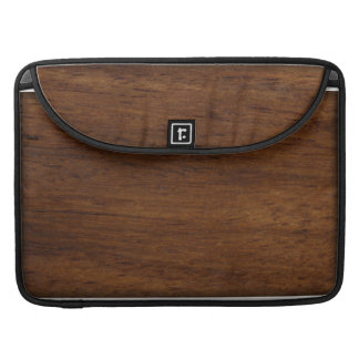 Wood Texture Rugged Construction Sleeves For MacBooks
