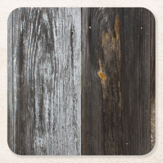 Wood Texture Square Paper Coaster