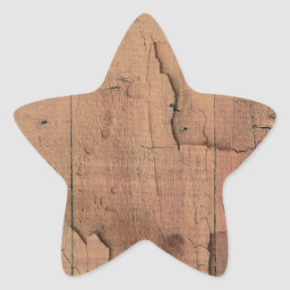 WOOD TEXTURE STAR STICKER