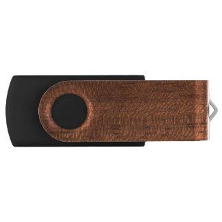 Wood texture swivel USB 3.0 flash drive