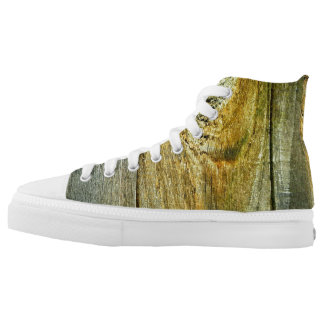 """""""Wood Textured"""" Printed Shoes"""