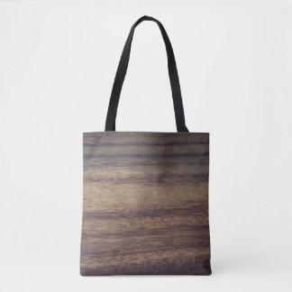 Wood textured tote bag