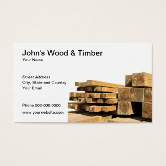 Wood & Timber Business Card