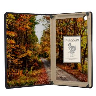 Wood trail with fall foliage iPad mini retina cover