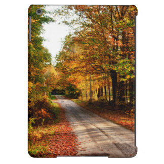 Wood trail with fall foliage cover for iPad air