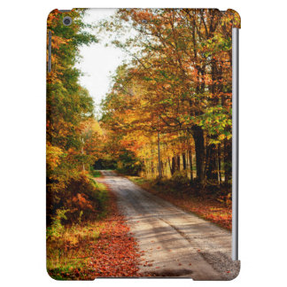 Wood trail with fall foliage