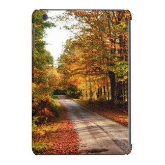Wood trail with fall foliage iPad mini cover