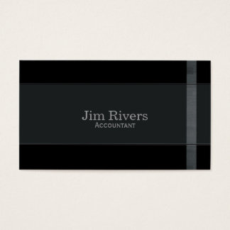 Wood Trim on Black Business Card