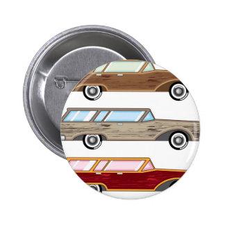 wood trim station wagon 6 cm round badge
