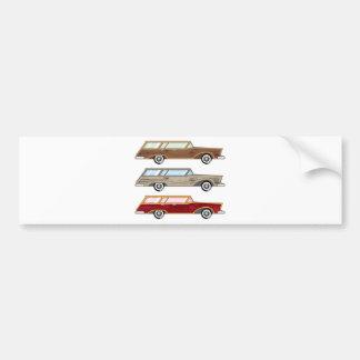 wood trim station wagon bumper sticker