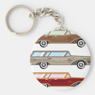 wood trim station wagon key ring