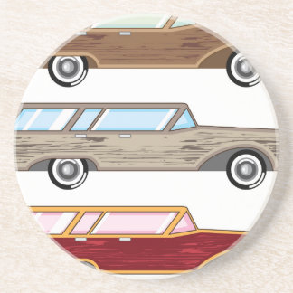 wood trim station wagon sandstone coaster