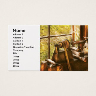 Wood Turner - An Old Lathe Business Card