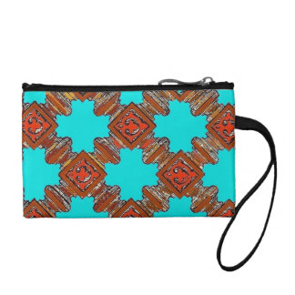 wood turnings print coin purse
