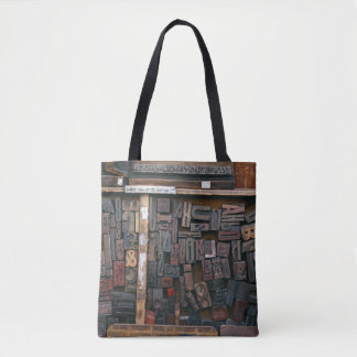 Wood Type Design Tote