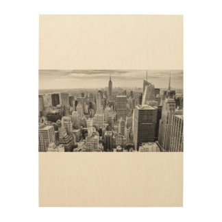 Wood Wall Art NYC Manhattan  New York  City