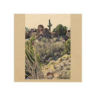 Wood Wall Art - The Sonoran Desert Wood Canvas