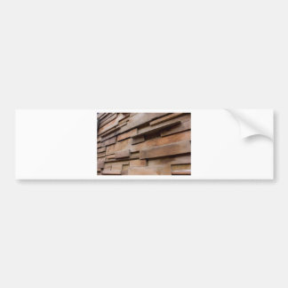 Wood Wall Bumper Sticker