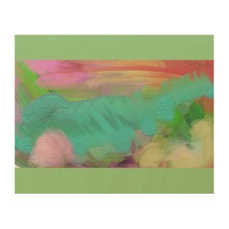 Wood Wall Hanging - Abstract Art Design Wood Canvas