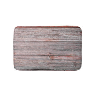 Wood Wall Texture Bath Mats