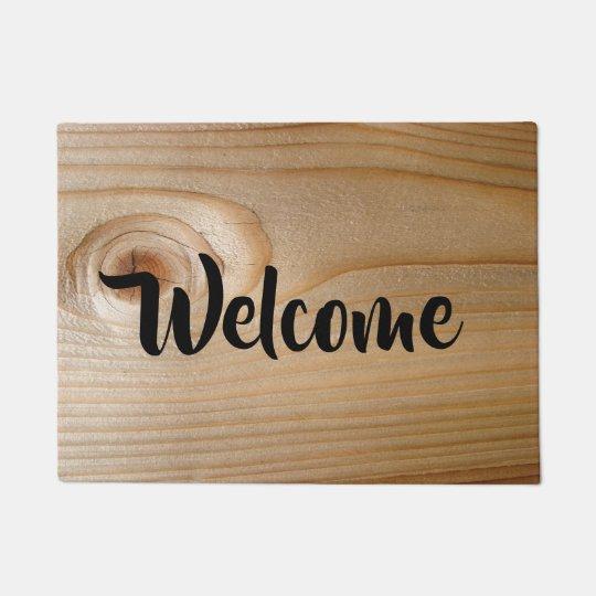 Wood  Welcome Doormat