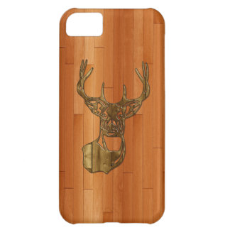 Wood - White Tail Buck Deer Case For iPhone 5C