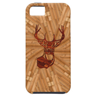 Wood - White Tail Buck Deer iPhone 5 Cover