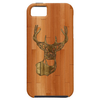 Wood - White Tail Buck Deer iPhone 5 Case