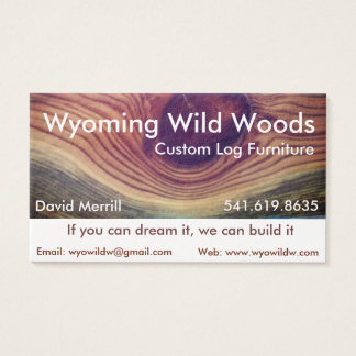 Wood working business card
