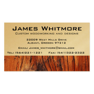 Wood working Cabinet Construction Business Cards