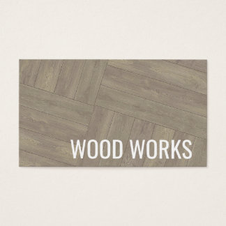 Wood Works Wooden Pattern Design Business Card