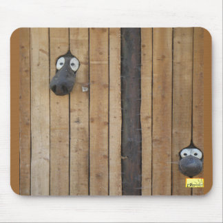 Wood worms mouse pad